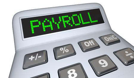 Payroll Calculator Staff Employees Salary 3d Illustration Stock Photo