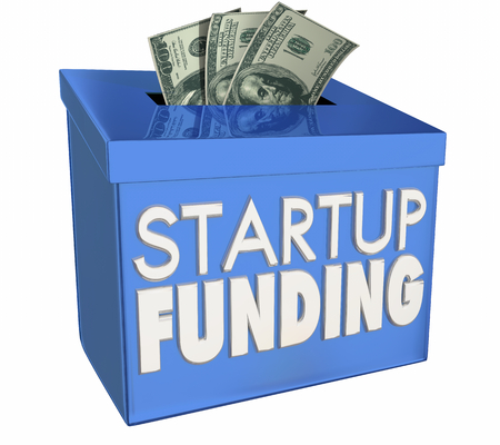 Startup Financing New Business Raise Money Funds 3d Illustration Фото со стока