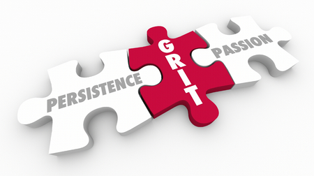 Grit Persistence Passion Puzzle Pieces 3d illustratie Stockfoto