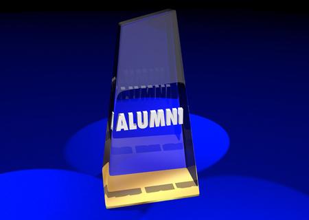 Alumni College Graduates Association Award 3d Illustration