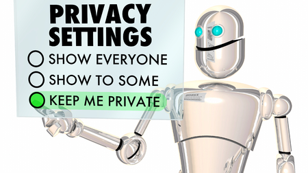 Privacy Settings Protect Private Information 3d Illustration Stock Photo