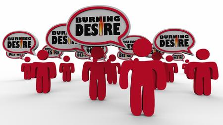 Buring Desire Customers People Audience Need 3d Illustration