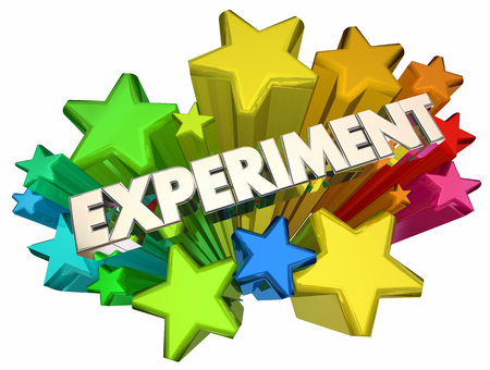 Experiment Stars Try New Test 3d Illustration Stock Photo