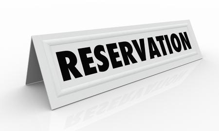예약 테이블 텐트 카드 지정 좌석 3D 그림 스톡 콘텐츠