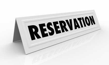 Reservation Table Tent Card Reserved Seat 3d Illustration Banco de Imagens