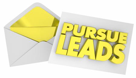Pursue Leads Letter Note Message Envelope 3d Illustration
