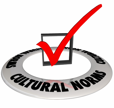 Cultural Norms Traditions Check Mark Box 3d Illustration.jpg