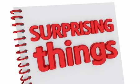 Verrassende dingen boek schokkende info Nieuws 3d illustratie