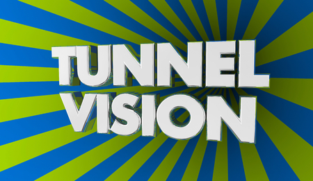 Tunnel Vision Focus Concentration Words 3d Illustration Stock Photo