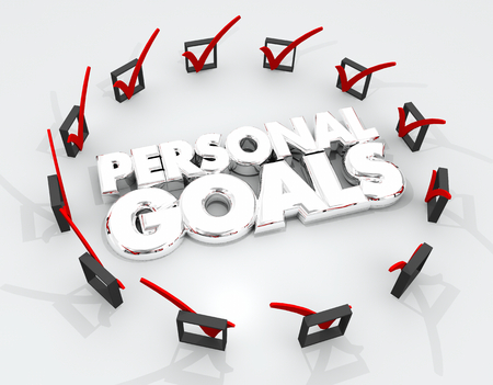 Personal Goals Check Marks Boxes Achieve Success 3d Illustration