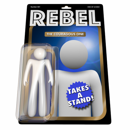 Rebel Action Figure Fight Power Authority 3d Illustration