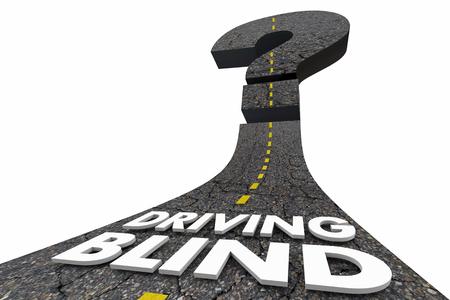 Drijven Blind Vraagteken Onzeker Fate Road 3d Illustratie