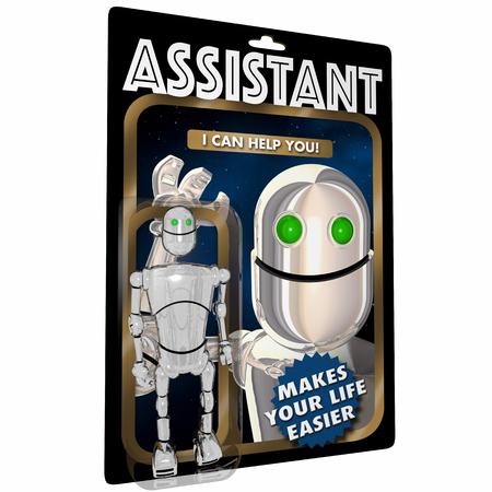 Aide d?assistance personnelle Robot Assistant Figure 3d Illustration Banque d'images - 93749661