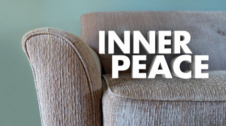 Inner Peace Words Relax Couch 3d Illustration