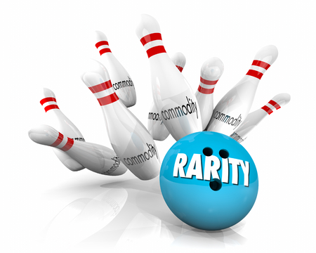 Rarity Vs Commodity Bowling Ball Pins Strike Rare 3d Illustration