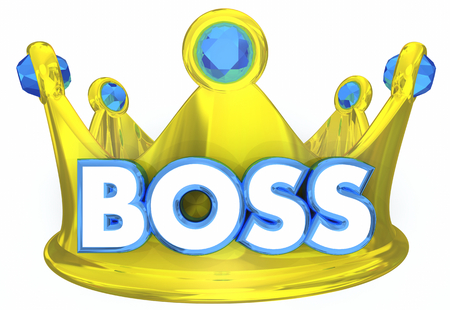 Boss Crown Manager Supervisor Superior Leader 3d Illustration
