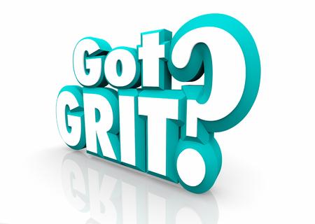 Got Grit Question Drive Ambition Passion 3d Illustration 스톡 콘텐츠