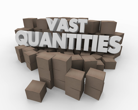 Vast Quantities Large Amount Inventory Boxes 3d Illustration