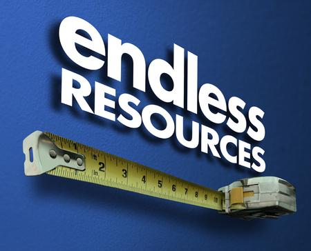 無限のリソース測定テープメジャーサプライ3Dイラスト