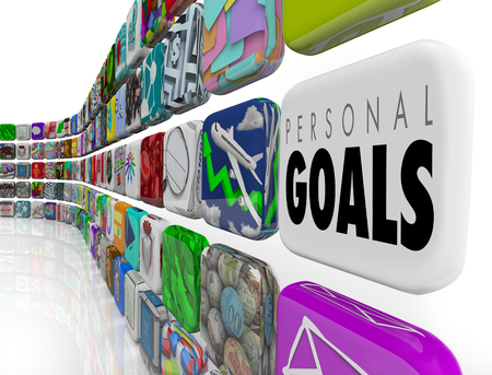Personal Goals Tracking Success Results Apps 3d Illustration