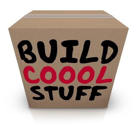 Build Cool Stuff Box Project Tools Materials Make Invent 3d Illustration Stock Photo