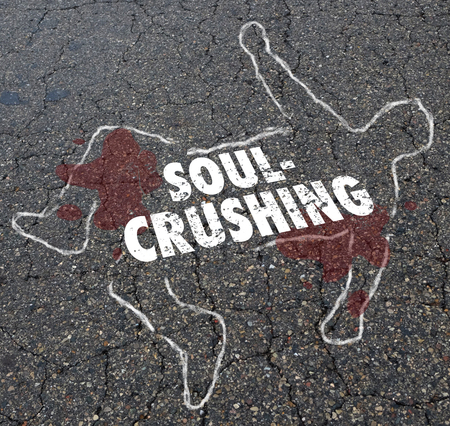 Soul Crushing Discouraging Morale Dead Body Chalk Outline Illustration