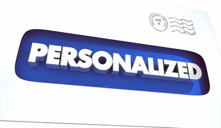 Personalized Letter Envelope Response Feedback 3d Illustration