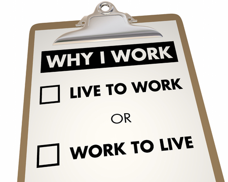 Why I Work Question Love Passion Career Attitude 3d Illustration