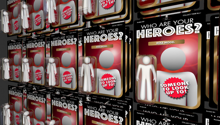 Who Are Your Heroes Action Figures Mentors Role Models 3d Illustration