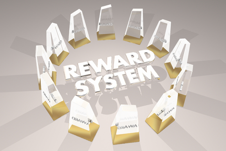 Reward System Awards Motivation Encouargement 3d Illustration Zdjęcie Seryjne