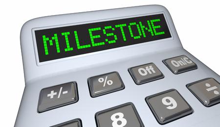 Milestone Calculator Financial Goal Savings Progress 3d Illustration Stock Photo