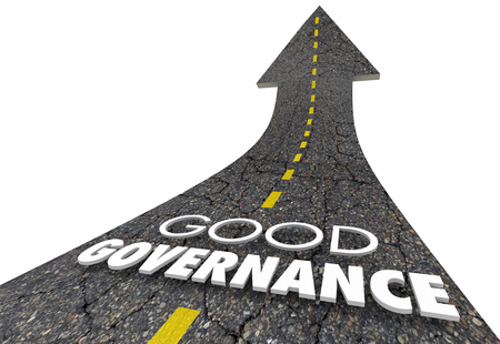 Good Governance Oversight Management Road Words 3d Illustration Banque d'images