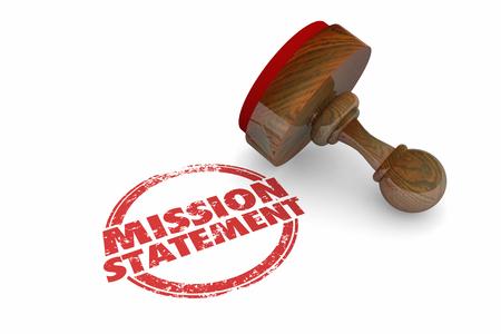 Mission Statement Goal Objective Stamp Words 3d Illustration 版權商用圖片