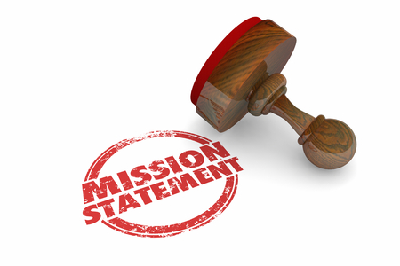 Mission Statement Goal Objective Stamp Words 3d Illustration Stock Photo