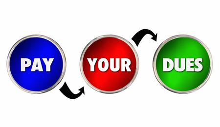 あなたの会費を支払うハードワークは、経験を得るアドバイス3Dイラスト