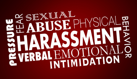 Sexual Harassment Abuse Word Collage 3d Illustration