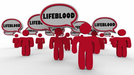 Lifeblood People Important Vital Group 3d Illustration