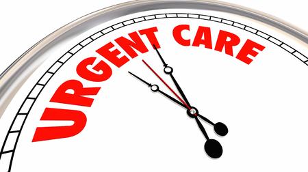 Urgent Care Clock Medical Emergency Help 3d Illustration