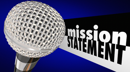 Mission Statement Microphone Sharing Vision Plan 3d Illustration