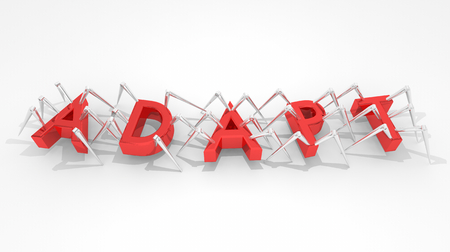 Adapt Spiders Bots React Change Innovate 3d Illustration