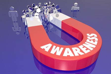 Awareness People Customers Audience Attraction Magnet 3d Illustration