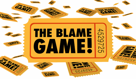 The Blame Game Shift Responsibility Fault Tickets 3d Illustration