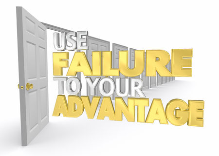 Use Failure to Your Advantage Door Opening Opportunity 3d Illustration
