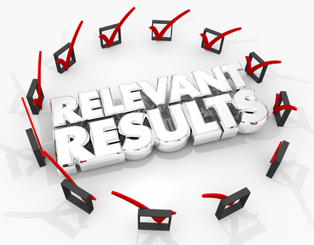 Relevant Results Check Boxes Search Success 3d Illustration Stock Photo