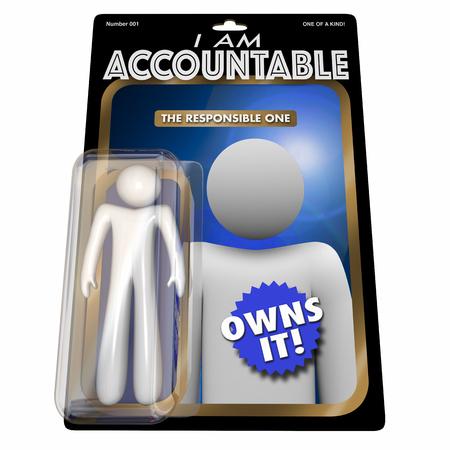 I Am Accountable Responsible Action Figure 3d Illustration Stok Fotoğraf