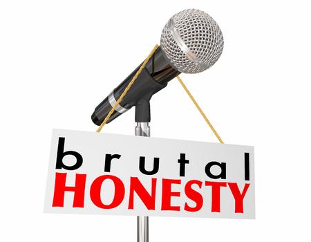 Brutal Honesty Microphone Share Truth 3d Illustration