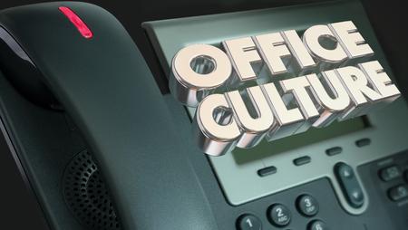 Office Culture Telephone Communication 3d Illustration