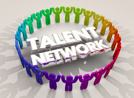 Talent Network Hire New People Skilled Employees 3d Illustration Stock Photo
