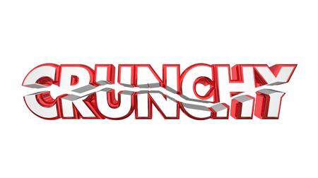 Crunchy Broken Word Rough Challenging 3d Illustration Reklamní fotografie