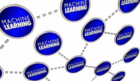 Machine Learning Network AI Artificial Intelligence 3d Illustration